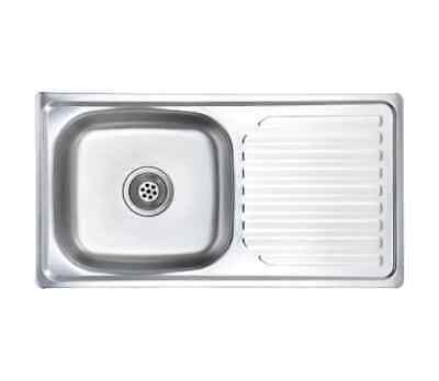 Stainless Steel Sink - With Strainer And Trap • 85£