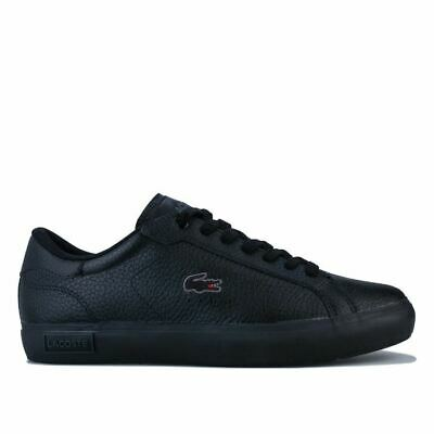 Men's Lacoste Powercourt II Lace Up Comfort Trainers In Black • 43.94£