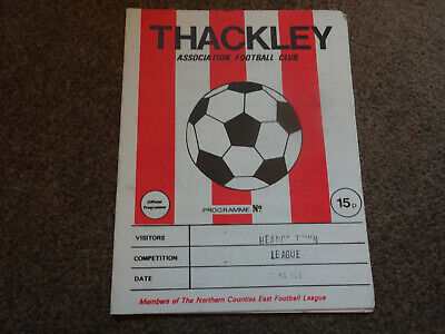 Thackley V Heanor Town 83/84 Northern Counties East Programme. • 0.99£