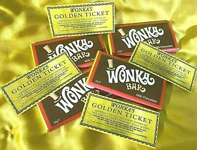 £2.99 • Buy Willy Wonka 50g Bar Genuine Milk Chocolate With A Free Special Golden Ticket