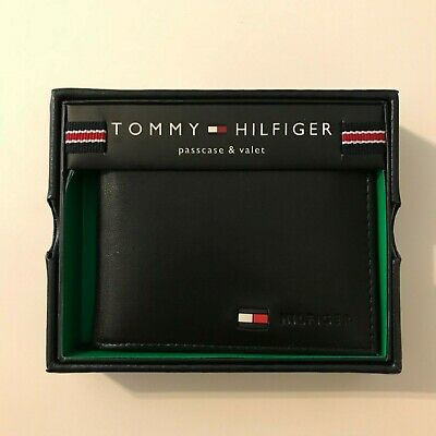 Tommy Hilfiger Men's Leather Wallet – Slim Bifold With Credit Card Pockets And • 20£