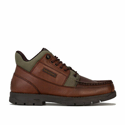 Mens Rockport Xcs Marangue Treeline Hiker Boots In Dark Brown- Lace Fastening- • 68.94£