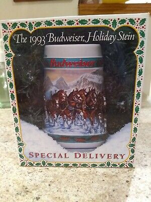 $ CDN77.75 • Buy 1993 & 1994 Budweiser Christmas Holiday Beer Steins(new In Box)