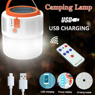 AU26.36 • Buy Rechargeable LED Torch Camping Tent Light Lamp Outdoor Solar Power Hiking New