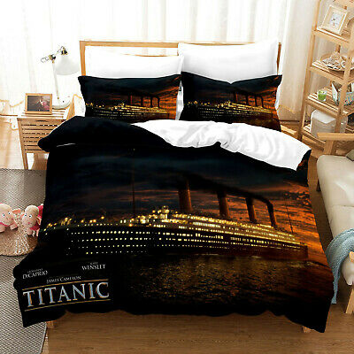 AU80.02 • Buy Titanic 3D Print Bedding Sets 2/3PC Of Duvet Cover & Pillowcase Comforter Cover