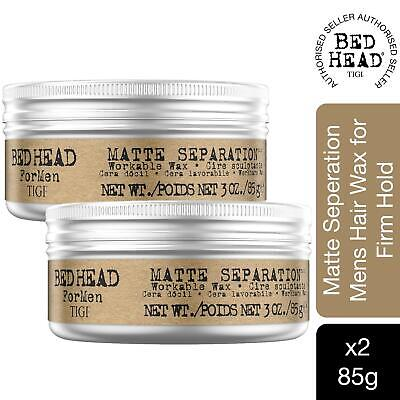 Bed Head For Men By TIGI Matte Separation Mens Hair Wax For Firm Hold 85g, 2pk • 13.99£