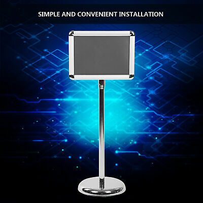A4 Floor Display Poster Frame Stand Standing Menu Sign Display Holder Silver New • 19.99£