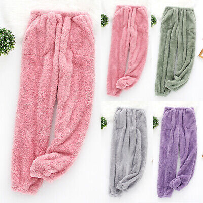 £16.99 • Buy Womens Winter Plush Fluffy Trousers Warm Casual Thermal Thicken Pants Pajama