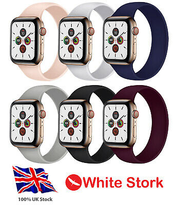 $ CDN7.67 • Buy SOLO Elastic Silicone Strap For Apple Watch 6 SE 5 4 3 2 1 Belt Loop IWatch Band