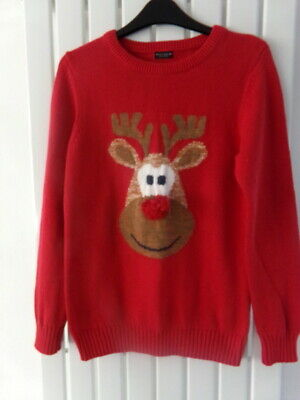 Boys Christmas Jumper 11-12 Years From Next - Rudolph Theme! • 1.04£