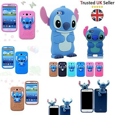 £4.95 • Buy Stitch Kids 3D Rubber Protective Case Cartoon Cover For IPhone 4 4s 5 5s 6 6s