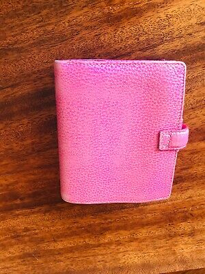 Filofax Finsbury Pocket Pink Leather Limited Edition  • 8£