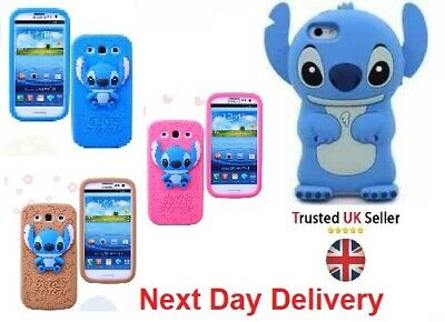 £4.95 • Buy All Stitch Kids 3D Rubber Silecone Protective Case Cartoon Cover For IPhone 5 5s