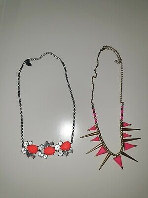 Costume Jewellery Necklace X2 Unbranded  • 4£
