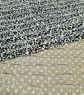 £4.49 • Buy Ruffled Jersey Fabric Dalmatian And Spotted Printed Stretch - Sold By The Metre