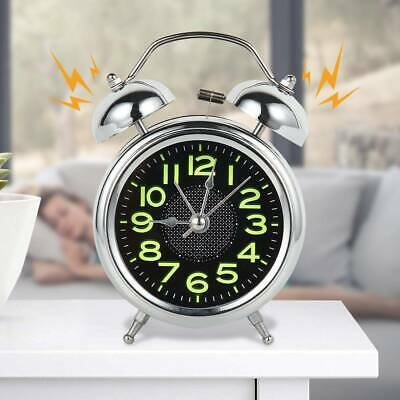 AU16.99 • Buy Retro Loud Double Bell Alarm Clock With Night Light Bedside Home Room Decor