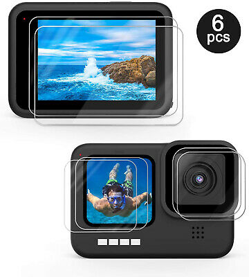 $ CDN9.66 • Buy Screen Lens Protector For GoPro Hero 9 Black Ultra Clear Tempered Glass 6 Pcs
