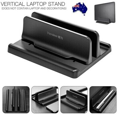 AU18.99 • Buy Vertical Laptop Stand Desktop Space Saving Stand Holder For Notebook MacBook Pro