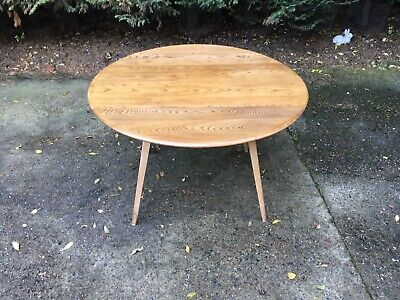 Ercol Oval Drop-Leaf Dining Table (383) • 125£