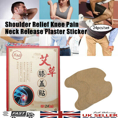 24Pcs Knee Plaster Sticker Wormwood Extract Knee Pain Joint Ache Relief Patches • 8.02£