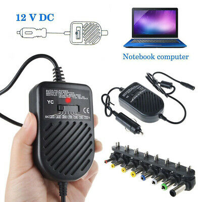Black 15-24V Car Charger Auto DC Power Adapter Supply For Notebook Laptop PC • 8.41£