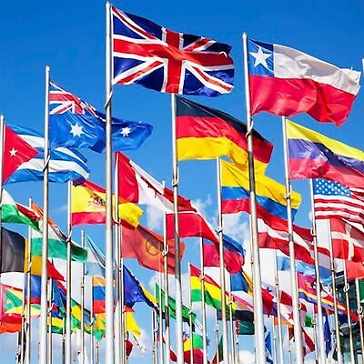 £6.95 • Buy 5ft X 3ft WORLD COUNTRY FLAGS - OFFICIAL - BEST QUALITY - WITH EYELETS