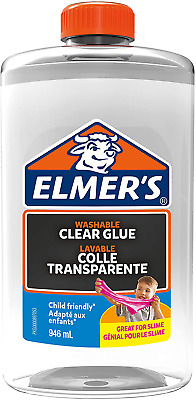 Elmers PVA Glue Washable Child Friendly Clear Blue Metallic • 7.49£