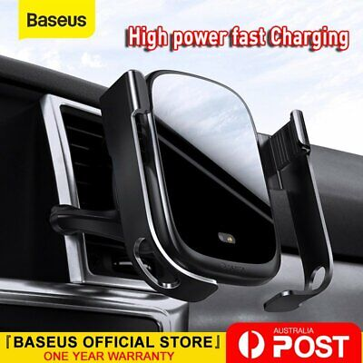 AU33.24 • Buy Baseus Automatic Qi Wireless Car Charging Charger Mount Clamping Phone Holder