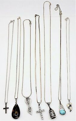 $ CDN12.93 • Buy Lot Of 7 925 Sterling Silver Pendant Necklaces LB1447