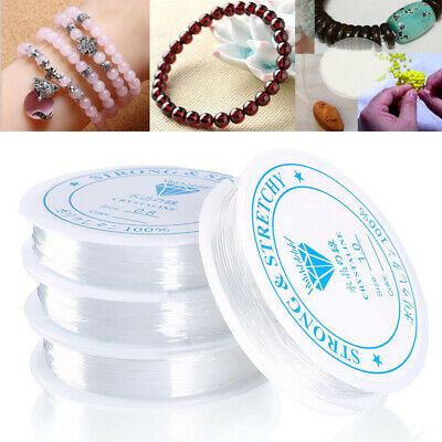 £1.69 • Buy Elastic Stretchy Beading Thread Cord Bracelet String For Jewelry Strong Makinguk