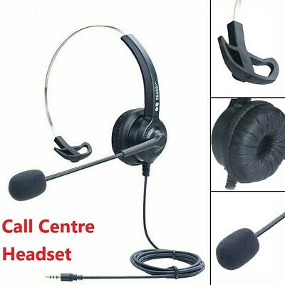 £9.39 • Buy Call Centre Office Headset  Noise Cancelling Headphone Microphone Telephone UK