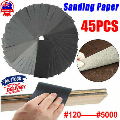AU17.92 • Buy 45X Mixed Sandpaper Wet And Dry Waterproof 120-5000 Grit Sheets Assorted Wood AU