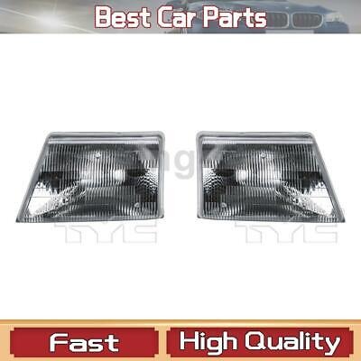 $59.97 • Buy Left Right Headlight Assembly TYC Fit Ford 1998-2000 2 Pcs