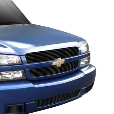 $112.32 • Buy For Chevy Silverado 1500 03-05 Main And Bumper Grille Kit 5-Pc Black Horizontal
