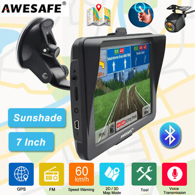 AU83.99 • Buy 7 AWESAFE Bluetooth GPS Navigator For Car Truck Navigation Sunshade AU Map