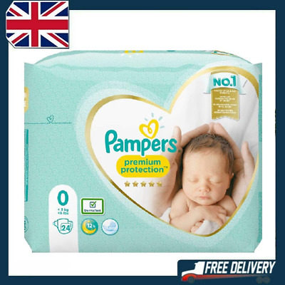 Details About  Pampers Premium Protect Micro Size 0 Newborn Nappies Pack Size 24 • 4.99£