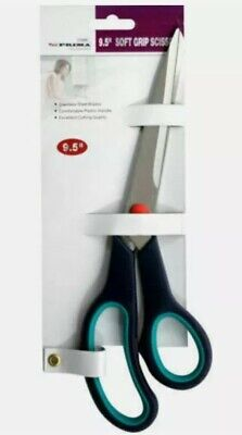£4.50 • Buy 9.5  Stainless Steel Soft Grip Scissor Comfortable Steel Handle High Quality