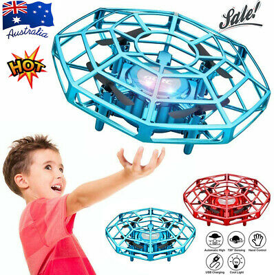 AU31.96 • Buy Mini Drone UFO Infrared Sensor Induction Aircraft Flying Toy For Kids Quadcopter