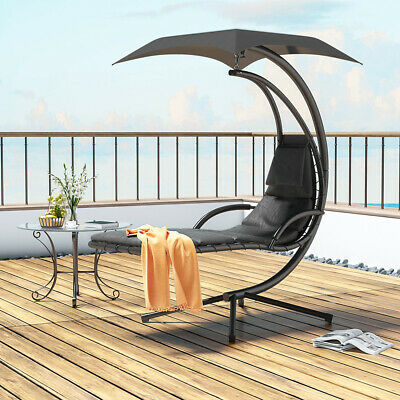 Outdoor Hammock Swing Adult Rocking Garden Chair Arc Stand Swing Hanging Lounger • 219.95£