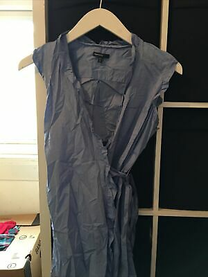 Gap Maternity Size Large Blue Sleeveless Wrap Front Blouse (W6) • 10£