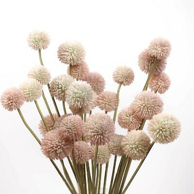 AU7.90 • Buy 5 Stems Billy Button Bunch 49cmH Artificial Dried Look Flowers Home Party Decor