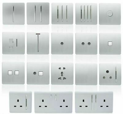 £11.89 • Buy Trendiswitch Silver Designer Light Switches,Switched Socket,Switch Fused Spur,et