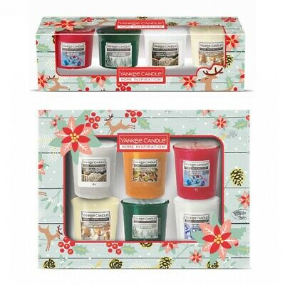 2020 YANKEE CANDLE Christmas Collection Present Gift Sets Of Scented Votive  • 14.99£