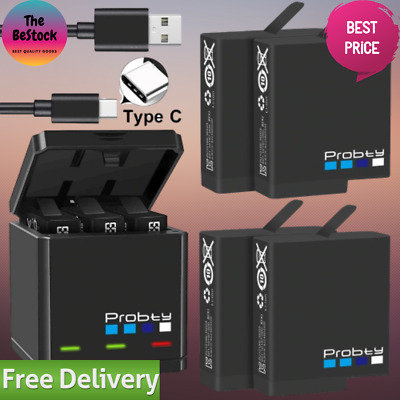 $ CDN69.77 • Buy Black Battery Triple / Dual Charger Pack For Gopro Hero 5 6 And 7 With Battery