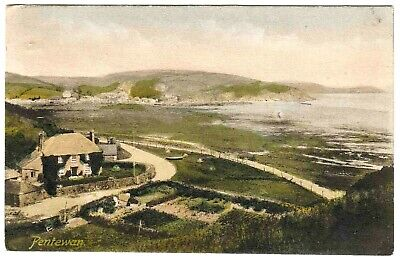 Antique Postcard . Pentewan . Cornwall . P/u 1917 • 0.99£