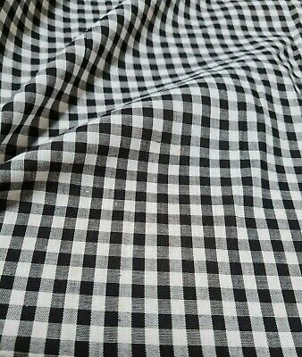 £2.99 • Buy  Checked Polycotton Fabric And White Mini-sold By The Metre