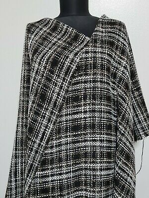 £6.49 • Buy Fabric Checked Boucle Coat  White And Beige Sold By The Metre