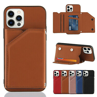 AU13.99 • Buy For IPhone 12 11 Pro Max Mini SE/8/7 Plus XR X/XS Case Leather Wallet Card Cover