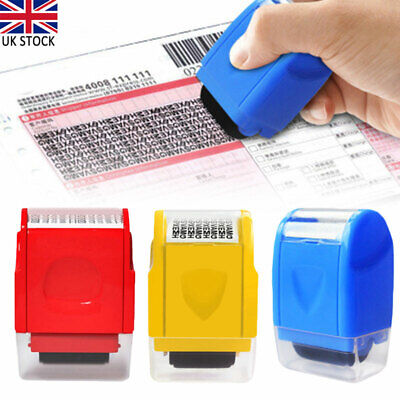Security Privacy ID Theft Protection Stamp Roller Guard Data Identity Safety New • 6.37£