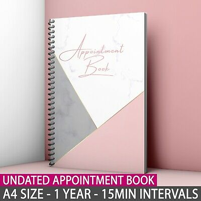 £15.99 • Buy A4 Undated Appointment Book Diary Beauty Salon Therapist 1Year Calendar Cashflow